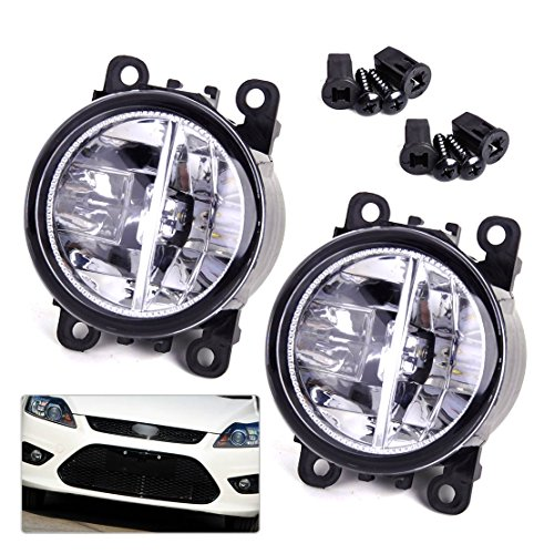 beler 2pcs LED Fog Light Lamp Replacement in Box for Acura Honda Ford Nissan Lincoln Jaguar Subaru Suzuki Porsche (2 LED Bulbs) by beler