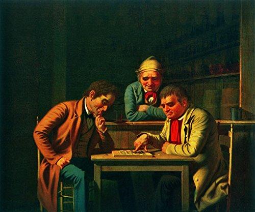 "George Caleb Bingham - The Checker Players (1850) 20""x24"" Canvas Art Poster"""