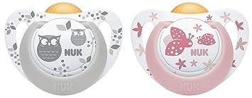Nuk Genius Color - Chupete de látex rosa Rosa (neu) Talla:0-6 meses