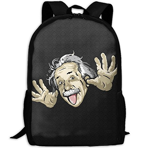 Funny Albert Einstein Unique Outdoor Shoulders Bag Fabric Backpack Multipurpose Daypacks For - Sunglasses Einstein
