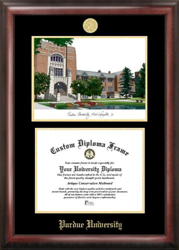 NCAA Purdue Boilermakers Diploma Frame, Multicolor, One Size by Campus Images