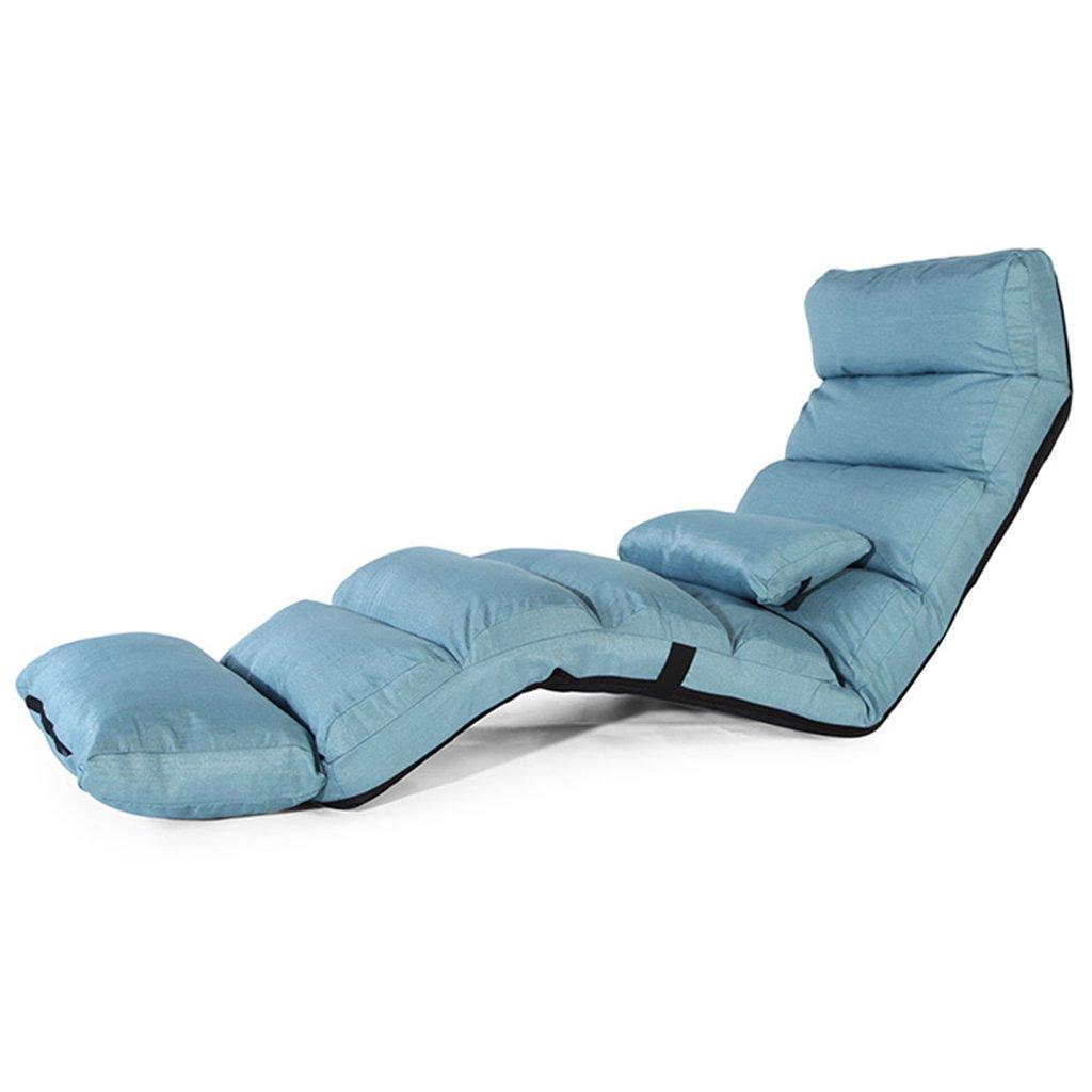 JH Sofa Tatami faltender Recliner Mittagessenruhestuhl Freizeitsofa Stahlrahmenstruktur, mehrstufige Justage, tragendes 100kg