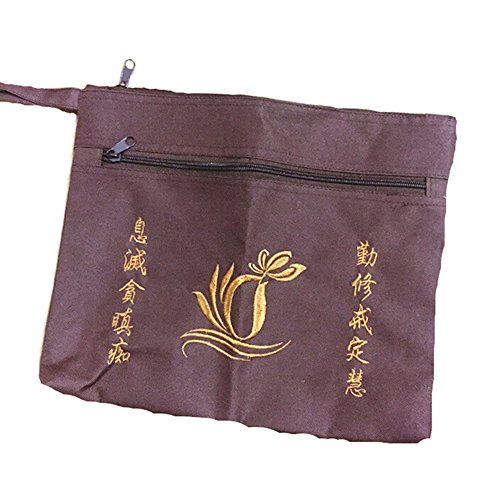 - Buddhist Monk Bag for Haiqing Robes Buddhism Lay Monk Embroidery Handbag