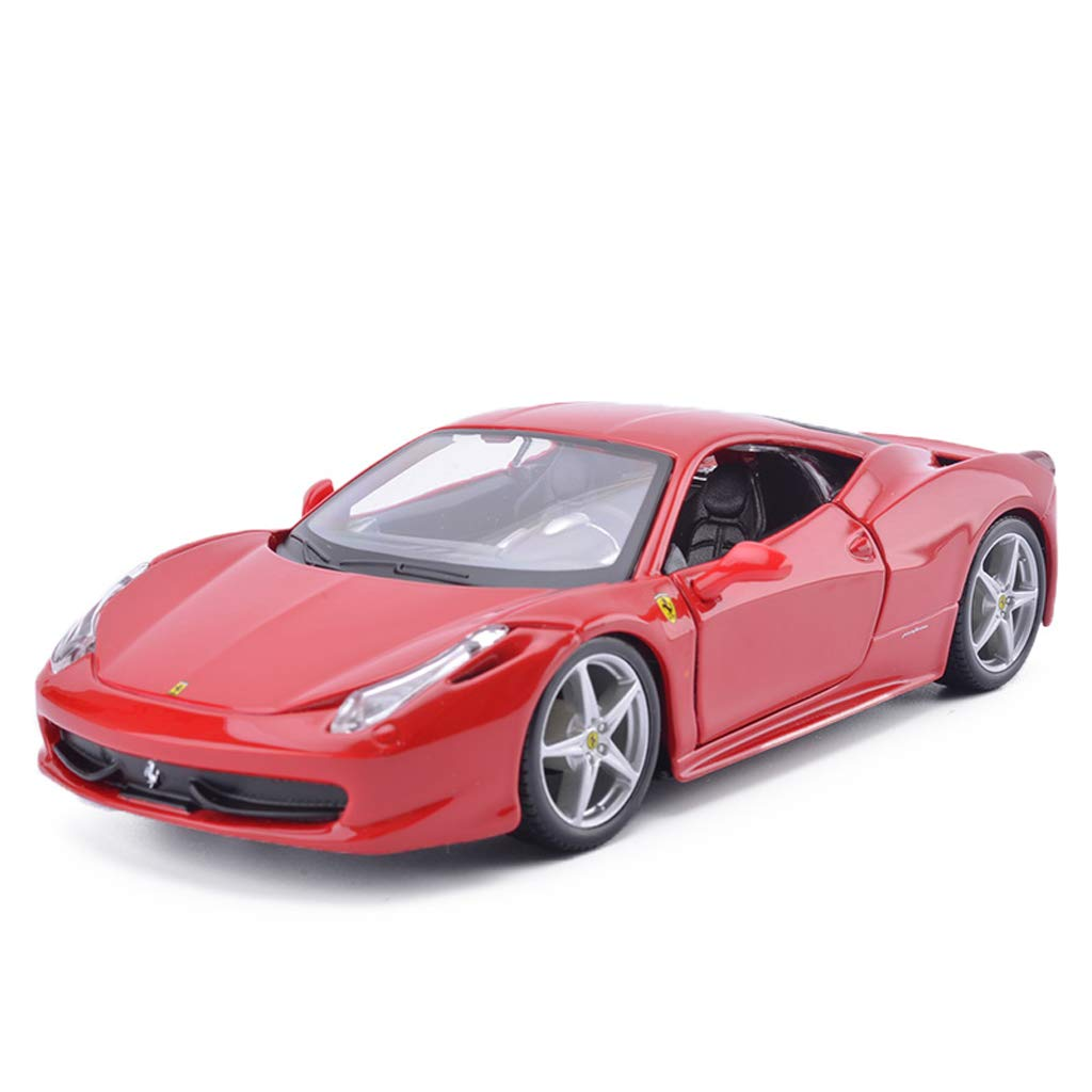de moda rojoLICCC Muere el el el Modelo de Coche Fundido Escala 1 24 Ferrari-458 Roadster Adornos de Juguete Colección de Autos Deportivos Joyería - rojo y amarillo - 19x8x5CM (Color   amarillo)  100% garantía genuina de contador