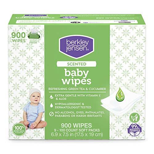 Berkley Jensen Green Tea & Cucumber Scented Baby Wipes, 900 Count (9 pk. 100 ct.)
