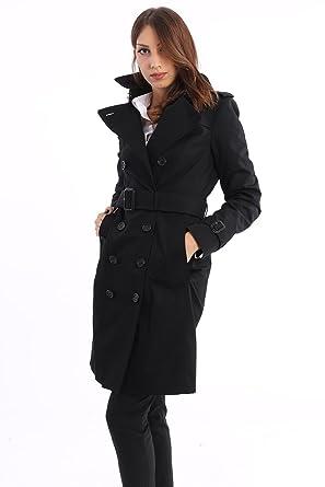 THE SANDRINGHAM - TRENCH COAT HERITAGE BLACK, Femme, Taille 10 ... e8d69fad76fb