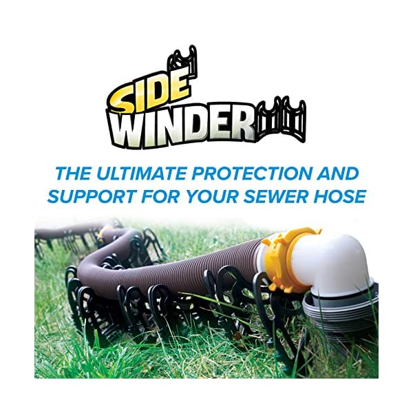 Camco 20ft Sidewinder Rv Sewer Hose Support Made From Sturdy Lightweight Plastic Won T Creep Closed Holds Hoses In Place No Need For Straps 43051 Living Tomorrow Today
