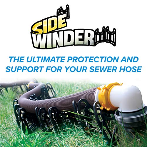Camco-20ft-Sidewinder-RV-Sewer-Hose-Support-Made-From-Sturdy-Lightweight-Plastic-Wont-Creep-Closed-Holds-Hoses-In-Place-No-Need-For-Straps-43051