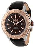 Invicta Men's 12616 Pro Diver Black Dial Black Leather Strap Watch