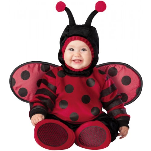 InCharacter Costumes Baby's Itty Bitty Lady Bug Costume, Red/Black, -