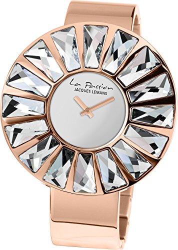 Jacques Lemans La Passion LP-120B Wristwatch for women With Swarovski crystals
