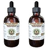 Marjoram Alcohol-FREE Liquid Extract, Organic Marjoram (Origanum majorana) Dried Berry Glycerite 2x2 oz