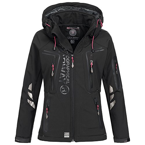 Geographical Norway Vaasai Lady Damen Softshell Jacke Outdoor Funktionsjacke Black