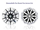 Diamonbella Brilliant 10 Hearts 10 Arrows Loose Simulated Diamond Ideal Round Cut (7 to 12mm)