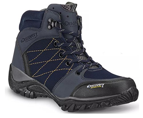 Discovery Expedition Women's Rugged Outdoor Mid Hiking Backpacking Boot (8, Blue) by Discovery Expedition