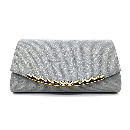 Clutch Bags Bag Diamonds Day Wedding Party For Shoulder Banquet Silver Purse Chain wOqgRS