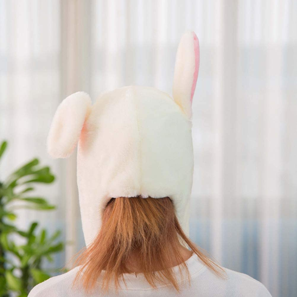 cappello da coniglio con orecchie mobili in peluche Amosfun copricapo invernale per donne e ragazze