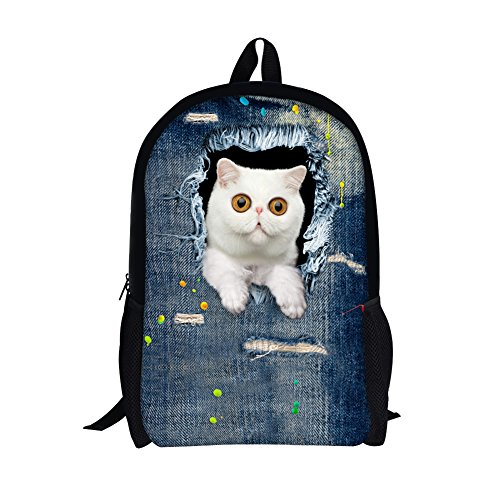 TOREEP Cute Cat Dog Print Casual Laptop Backpack School - Goggles Ladies Online Shopping