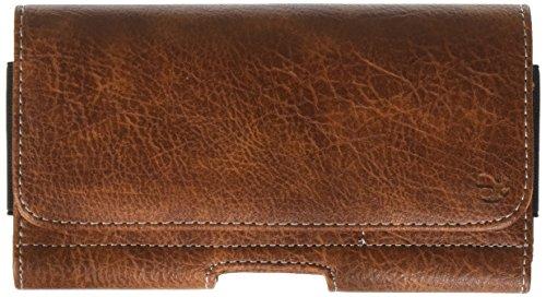 (Luxmo #23 Mega 6.3/LG G Flex/ZTE Max Horizontal Universal Leather Pouch - Brown)