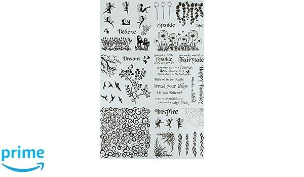 Crafters Companion CC-FOILTR-FD Flourishing Delights Foil Transfers Clear