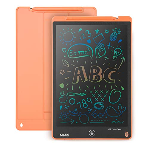 Mafiti LCD Writing Tablet 11 Inch Colorful Screen Electronic Writing Drawing Pads Portable Doodle Board Gifts for Kids Office Memo Home Whiteboard Orange