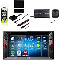 JVC KW-V130BT Double DIN Bluetooth In-Dash DVD/CD/AM/FM Car Stereo Receiver w/Touchscreen with Sirius SXV300v1 Vehicle Radio Tuner & Metra Axxess ASWC-1 Universal Steering Wheel Control Interface