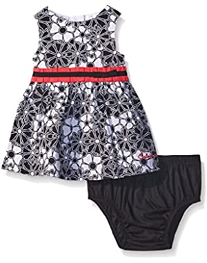 Baby Girls' Flower Print Poplin Dress and Panty