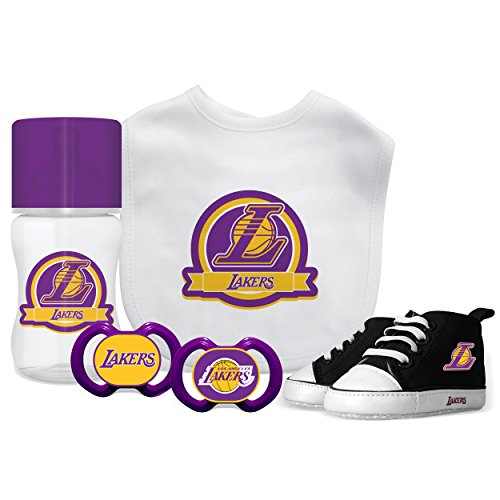 Baby Fanatic NBA Los Angeles Lakers Unisex LAL5055 Piece Gift Set - Los Angeles Lakers ()