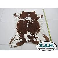 Brown & White Calfskin Rug
