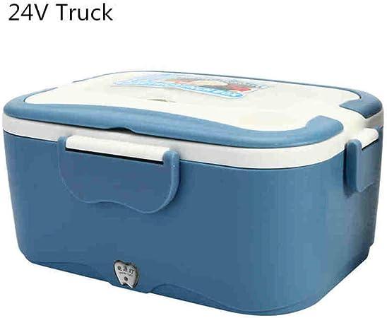 Fiambrera Bento Box 1 5L 12V / 24V Car Fiambrera eléctrica de viaje Aire libre Cenar Calefactor de camión Fiambrera Caja de almacenamiento de alimentos Cubiertos Caja de regalo Azul 24V: Amazon.es: