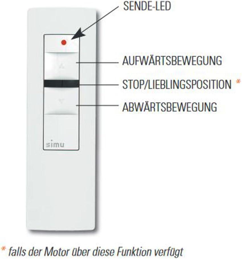 Simu Hz Funk Handsender 16-Kanal Fernbedienung Schalter Rolladenmotor Rohrmotor