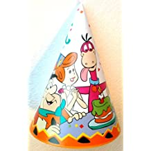 THE FLINSTONES Party Hat FRED, WILMA, DINO, BARNEY & BETTY (Pack of 8) by The Flintstones