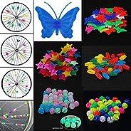 AISHEMI Bicycle Wheel Spoke Decoration (About 150pcs) Colorful Bike Spoke Clips Beads for Kids Girls Bike
