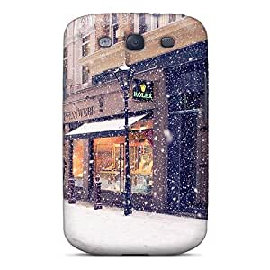 Tpu Fashionable Design Snowing In Town Rugged Case Cover For Galaxy S3 New