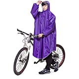 Aosovs レインコート 自転車 バイク レインポンチョ ロング ポンチョ レディース メンズ 男女兼用 通勤通学 フリーサイズ 完全防水 四季通勤 収納袋付き 5カラー