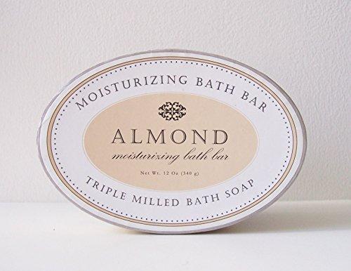 Triple Milled Bath Soap 12 Ounce (Almond) (Bath Almond White)
