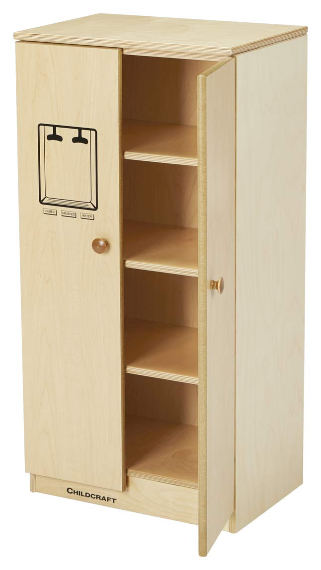 Childcraft 386499 Traditional Refrigerator Natural Wood Tone 17-1//4 x 35-13//16 x 13-1//8