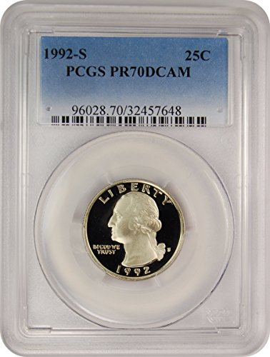 1992 S Washington Quarter Quarter PR70 PCGS