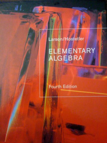 Elementary Algebra ( 4th Edition)