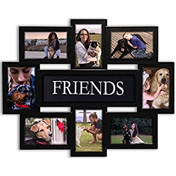 Jerry U0026 Maggie   Photo Frame 22x17 Wood Tone Friends Picture Frame Selfie  Gallery Collage Wall Hanging For 6x4 Photo   8 Photo Sockets   Wall  Mounting ...