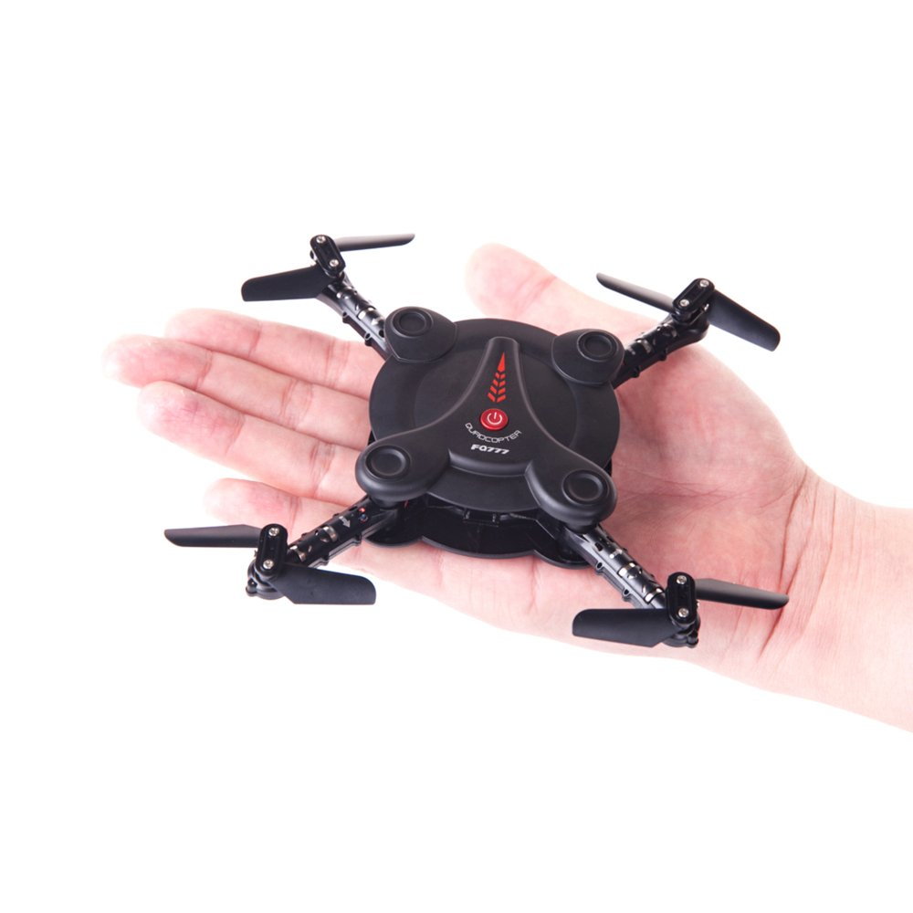 RC Quadcopter Drone with FPV Camera Live Video - 2 Batteries - Flexible Foldable Aerofoils