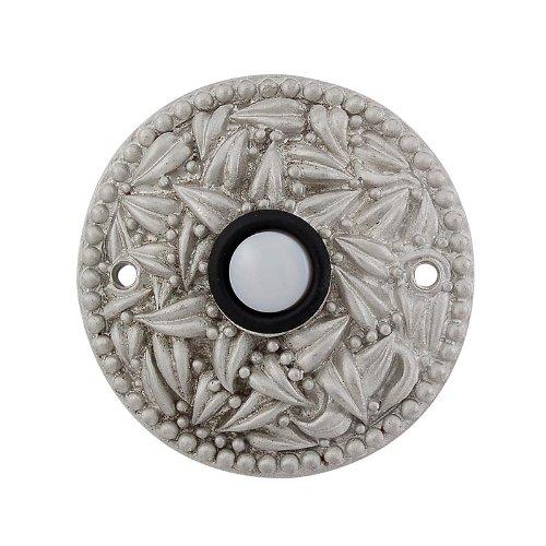 (Vicenza Designs D4013 San Michele Round Doorbell, Satin Nickel)