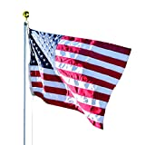 Valley Forge Flag 3 x 5 Foot Duratex Commercial Grade US American Flag Kit with 20-Foot Aluminum In-Ground Pole and Hardware