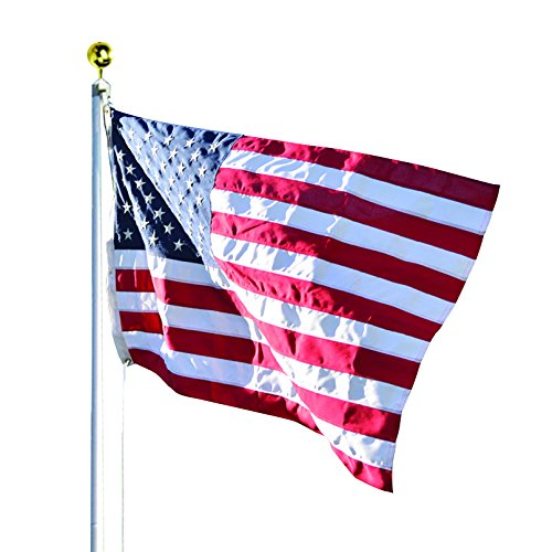 Valley Forge Flag 3 x 5 Foot Duratex Commercial Grade US American Flag Kit with 20-Foot Aluminum In-Ground Pole and Hardware Forge Art
