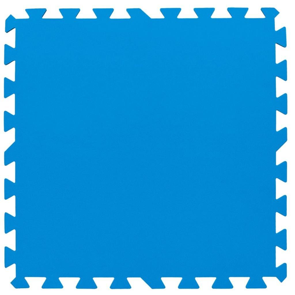 BestwayTapis de protection 9 pièces bleu 50 cm x 50 cm x 4 mm, surface totale 2,20 m2 14352