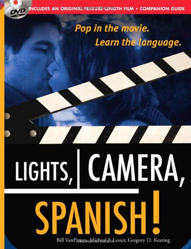Lights, Camera, Spanish (Book + DVD): Learn Conversational Spanish by Watching a Romantic Adventure