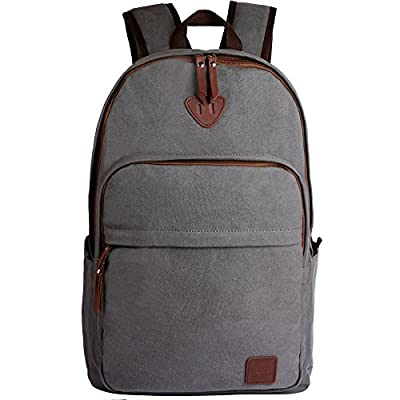 ibagbar Canvas Backpack Rucksack Daypack Travel Bag Hiking Bag