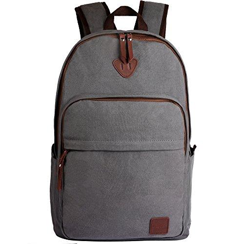 ibagbar-Canvas-Backpack-Rucksack-Daypack-Travel-Bag-Hiking-Bag
