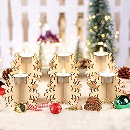 snowflake table decorations.htm amazon com wmbetter set of 12 holiday centerpiece wooden  wmbetter set of 12 holiday centerpiece