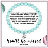 SOLINFOR Coworker Leaving Gifts for Women - Amazonite Beads Farewell Bracelet - Retirement Moving Away Goodbye New Job...